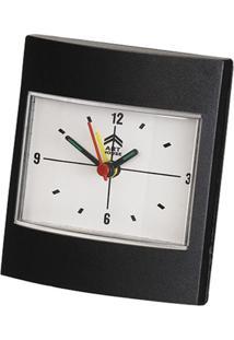 Relógio Despertador Quadrado Preto