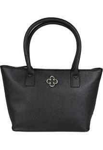 Bolsa Capodarte Handbag Soft Safiano Feminina - Feminino-Preto