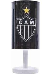 Luminária Abajur Atlético Mineiro - Unissex-Preto