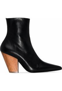 Simon Miller Ankle Boot De Couro - Preto