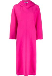 Balenciaga Vestido Assimétrico Com Capuz - Rosa