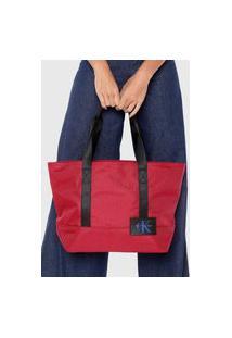 Bolsa Sacola Calvin Klein Grande Vermelha