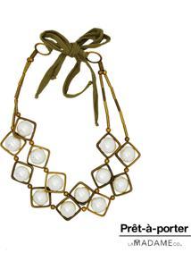 Colar La Madame Co Maxi Colar Bronze - Kanui