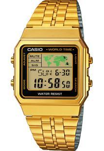 Relógio Digital Casio Unissex - A500Wga1Df Dourado