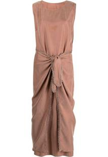 Shatha Essa Vestido Envelope De Crochê - Rosa