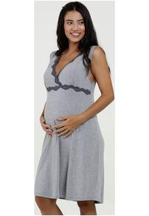 Camisola Feminina Maternidade Mescla Sem Manga Marisa