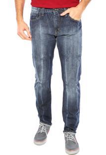 Calça Jeans Colcci Slim Detalhe Azul