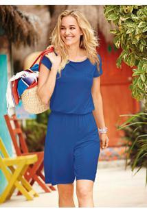 Macaquinho Bermuda Azul Royal