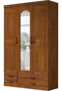 Guarda-Roupa Casal Com Espelho Parma 3 Pt 4 Gv Imbuia