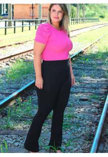 Calça Flare Almaria Plus Size Fact Jeans Alfaiatar