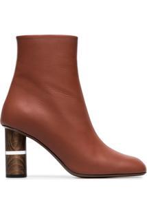 Neous Ankle Boot 80 De Couro - Marrom