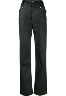 Rick Owens Drkshdw Calça Jeans Encerada - Preto