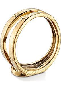 Porta Vela Dourado 14 X 6 X 13,5 Cm
