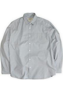 Camisa Praga Linoleum - Masculino-Azul+Branco