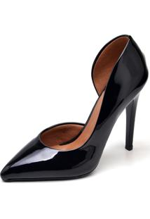 Sapato Scarpin Verniz Gisela Costa Preto - Kanui
