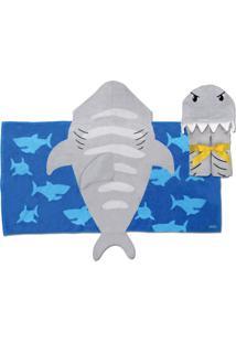 Toalha De Banho Stephen Joseph Tubarão Estampado