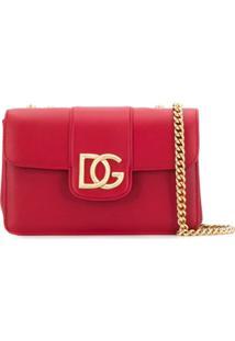 Dolce & Gabbana Bolsa Tiracolo Com Placa De Logo - Vermelho