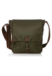 Bolsa Blue Bags Transversal Com Tampa Verde Militar