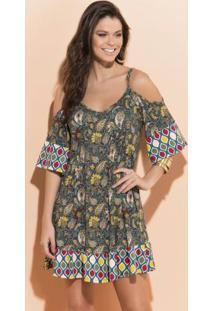 Vestido Ciganinha Cashmere Com Alças