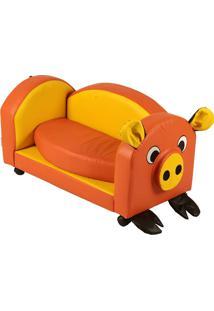 Puff Pig Infantil - Stay Puff - Amarelo / Laranja
