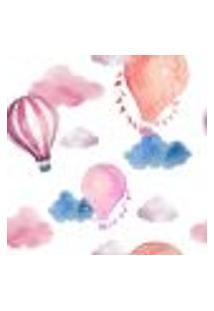 Papel De Parede Autocolante Rolo 0,58 X 3M - Balão Infantil Nuvem 289368497