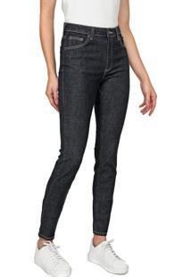 Calça Jeans Lacoste Skinny Pespontos Azul-Marinho