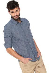 Camisa Reserva Reta Textura Azul