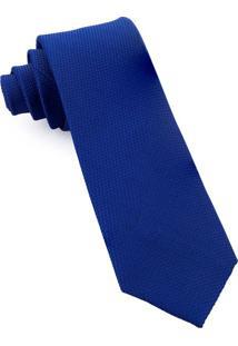 Gravata De Seda Jacquard Blue - Sd49