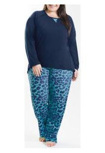 Pijama Longo Mullet Laibel (15007706) Plus Size