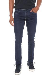 Calça Jeans Sawary Slim Sk Comfort Azul-Marinho