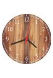 Relógio De Parede Abstrato Madeira Decorações Salas Cozinhas