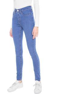 Calça Jeans Calvin Klein Jeans Skinny Pock High Rise Azul