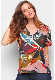 T-Shirt Cantão Classic Noronha Feminina - Feminino-Colorido