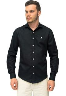 Camisa Social Slim Maquinetada 3001 - Masculino