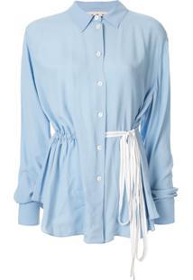 Marni Camisa Com Cordão De Ajuste - Azul