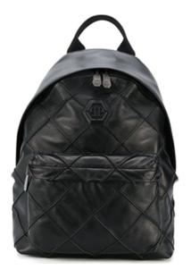 Philipp Plein Geometric Backpack - Preto