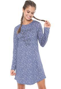 Camisola Espaço Pijama Curta Stars Azul