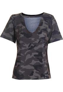 Camiseta Choker Feminina Lara - Verde Escuro