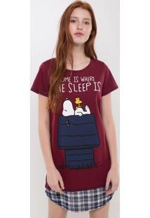 Camisola Manga Curta Snoopy
