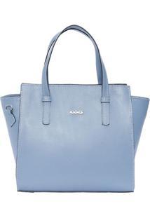 Bolsa Em Couro Com Tag Metálica- Azul Pastel- 23X34Xiódice