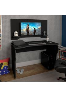 Escrivaninha Para Computador Com Painel Artany Gamer Preta