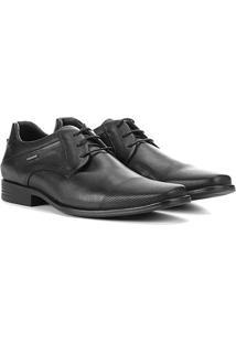 Sapato Social Ferracini Perfuros Masculino - Masculino-Preto