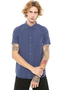 Camisa Element Reta Bennet Lisa Azul