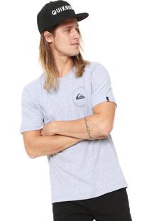 Camiseta Quiksilver Big Second Cinza