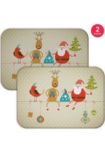 Jogo Americano Love Decor Wevans Cute Noel 2 Peças
