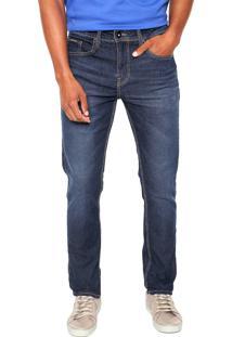 Calça Jeans Calvin Klein Jeans Skinny Estonada Azul
