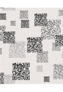 Papel De Parede Tic Tac Códigos 53Cm Com 10 Metros