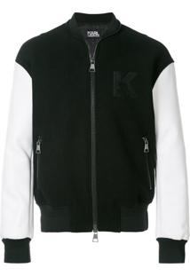 Karl Lagerfeld Jaqueta Bomber 'Karl' - Preto