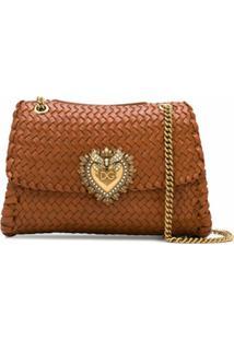 Dolce & Gabbana Bolsa Tiracolo Devotion - Marrom