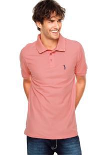 Camisa Polo Aleatory Logo Coral
